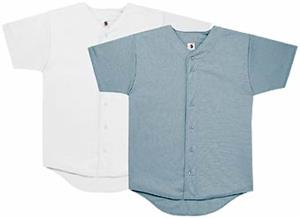 17oz Stretch Full Button Baseball Jersey-Closeout