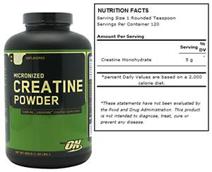 Micronized Creatine Powder - Unflavored 600g