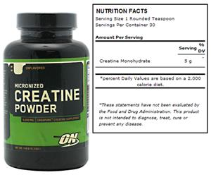Micronized Creatine Powder - Unflavored 150g