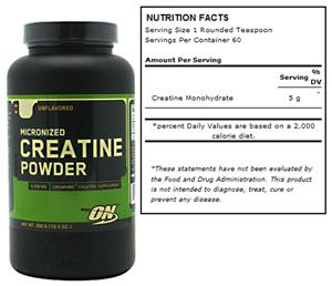 Micronized Creatine Powder - Unflavored 300g