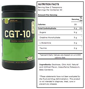 Optimum Nutrition CGT-10 - Lemon Lime (600g)