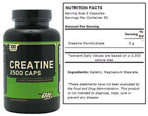 Optimum Nutrition Creatine 2500mg 100 Caps