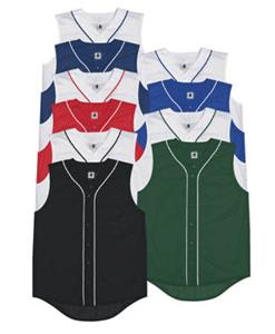 Sleeveless Full Button Baseball Jersey-Closeout