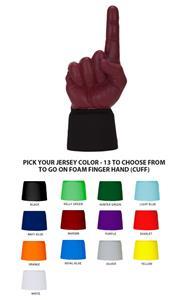 UltimateHand Foam Finger Maroon Hand/Jersey Combo