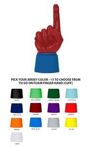UltimateHand Foam Finger Scarlet Hand/Jersey Combo