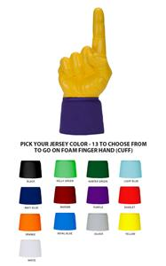 UltimateHand Foam Finger Yellow Hand/Jersey Combo