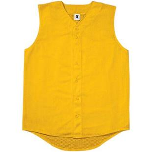 Pro Mesh Sleeveless Button-Front Baseball Jerseys