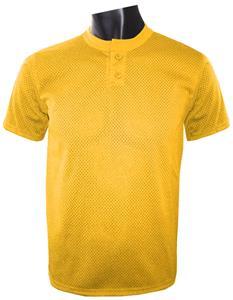 100% Polyester Pro Mesh 2-Button Baseball Jersey