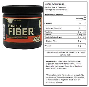 Optimum Nutrition Fitness Fiber - 6.87 oz.