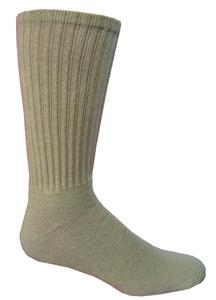 Pro Feet Khaki Cotton Crew Socks-Closeout