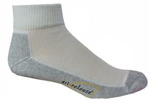 Dri-Release White Quarter Socks 2 Pack - Closeout