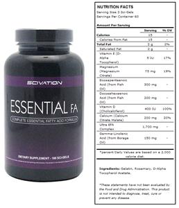 Scivation Essential FA Fatty Acid Supplement