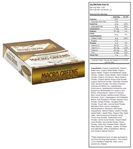 Macro Greens Raw Anti-Oxidant Food Bar-Choc Cinnam