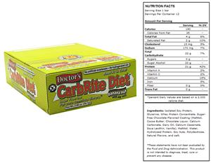 Doctors CarbRite Sugar Free Bar Choc Banana Nut