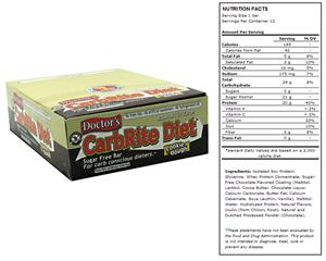 Doctors CarbRite Sugar Free Bar Cookie Dough