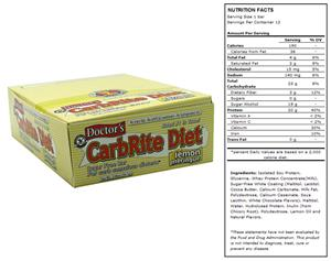 Doctors CarbRite Sugar Free Bar Lemon Meringue