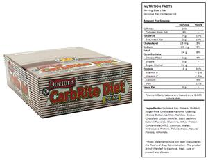 Doctors CarbRite Sugar Free Bar Toasted Coconut