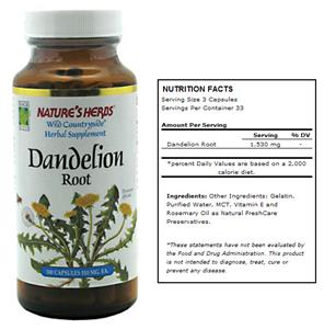 Nature's Herbs Dandelion Root Herbal Supplement