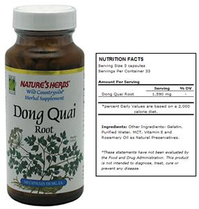 Nature's Herbs Dong Quai Root Herbal Supplement