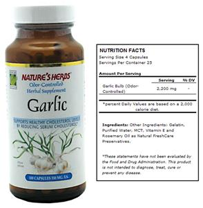 Nature's Herbs Garlic Odor-Controlled Supplement