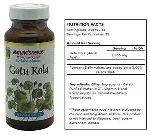 Nature's Herbs Gotu Kola Herbal Supplement