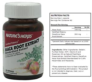 Nature's Herbs Maca Root Extract Herbal Supplement