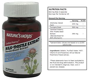 Nature's Herbs Milk-Thistle Extract Liver Suppl.