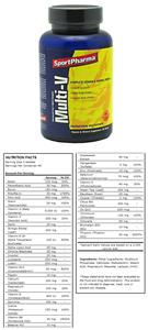 SportPharma Multi-V Vitamin & Minerals Supplement