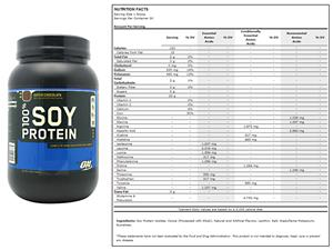 100% Soy Protein 2 lb Dutch Chocolate