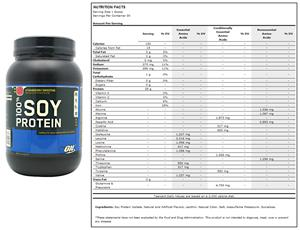 Optimum Nutrition 100% Soy Protein 2 lb Strawberry