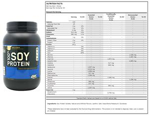100% Soy Protein 2 lb Vanilla Bean