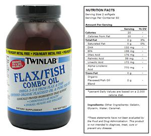 TwinLab Flax/Fish Combo Oil