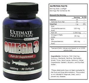 Ultimate Nutrition Omega-3 Fish Oil Supplement