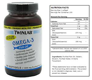 TwinLab Omega-3 Fish Oil Supplement