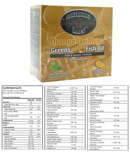 Orange OxiMega Fish & Greens Formula Fish Oil