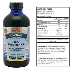 Health From Sun PFO Pure Fish Oil Liquid Orange