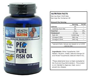 Health From The Sun PFO Pure Fish Oil Gels