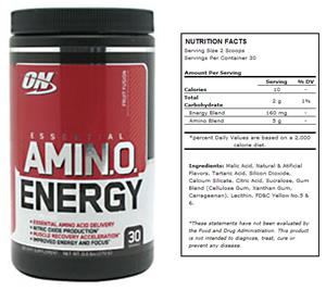 Essential Amino Energy Fruit Fusion Powder