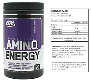 Essential Amino Energy Concord Grape Powder