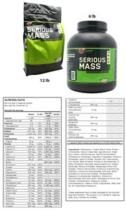 Serious Mass Strawberry 6lb or 12lb Gainer