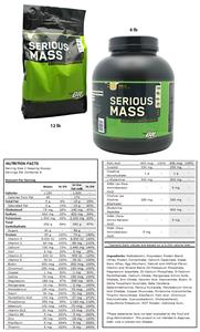 Serious Mass Vanilla 6lb or 12lb Gainer