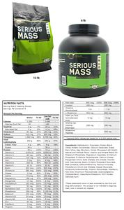 Serious Mass Chocolate 6lb or 12lb Gainer