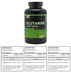 Optimum Nutrition Glutamine 1000 Capsules 3 Sizes