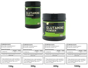 Optimum Nutrition Glutamine - 4 Sizes Supplements