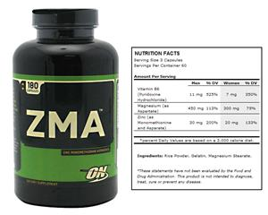 Optimum Nutrition ZMA - Zinc Magnesium Vitamin B6