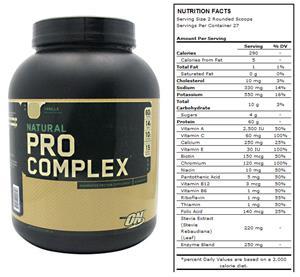 Nutrition Natural Pro Complex-Vanilla 4.6lb