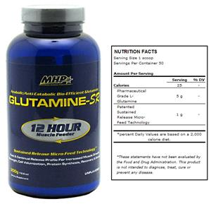 MHP Glutamine-SR Bio-Efficient 12 Hr. Supplement