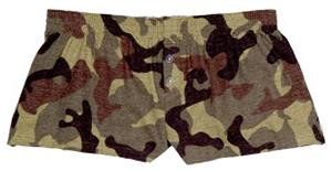 Boxercraft Womens Camo Flannel Bitty Boxer Shorts