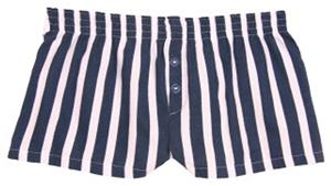 Womens Striped Flannel Bitty Boxer Shorts