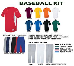 Ellipse Two-Button Baseball Jersey Uniform Kits